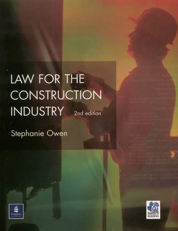 Law for the Construction Industry book cover