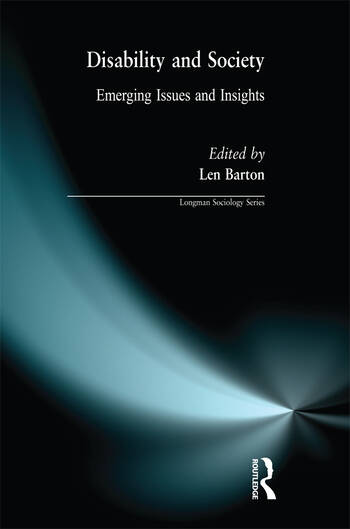 Disability and Society Emerging Issues and Insights book cover
