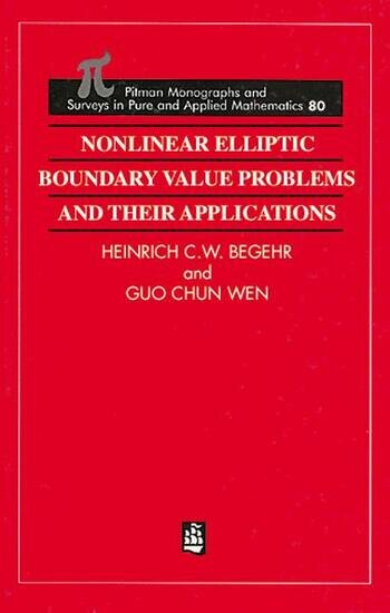 Nonlinear Elliptic Boundary Value Problems and Their Applications book cover