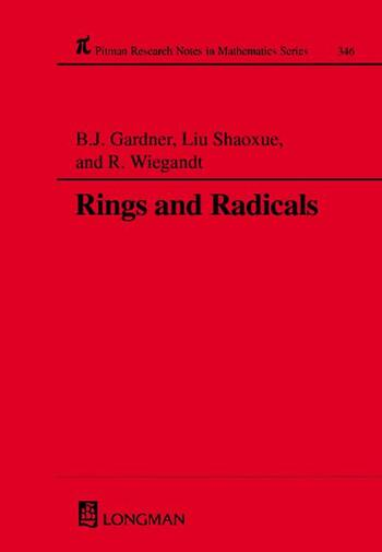 Rings and Radicals book cover