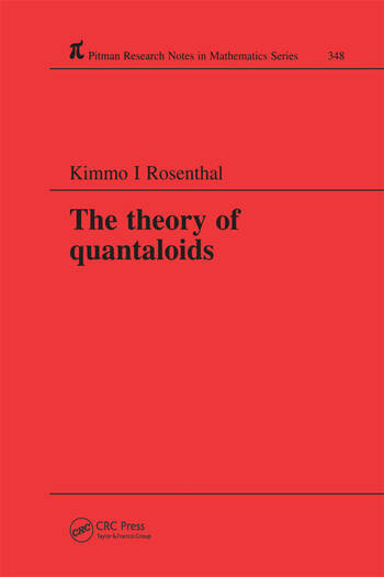 The Theory of Quantaloids book cover