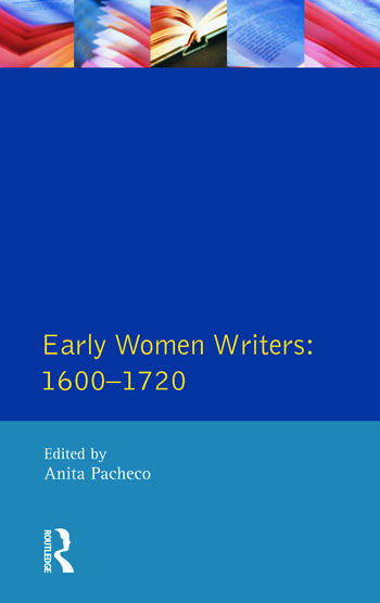 Early Women Writers 1600 - 1720 book cover