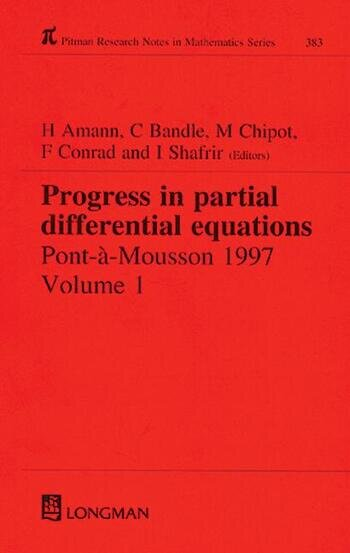 Progress in Partial Differential Equations Pont-A-Mousson 1997, Volume 384 book cover