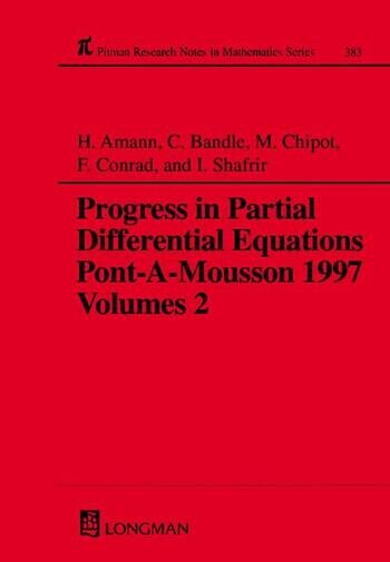 Progress in Partial Differential Equations Pont-A-Mousson 1997, Volume 383 book cover