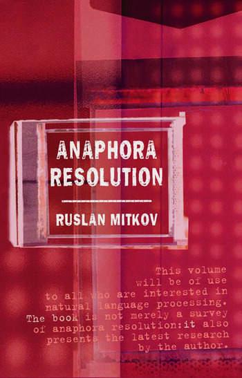 Anaphora Resolution book cover