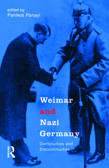 Weimar and Nazi Germany Continuities and Discontinuities book cover