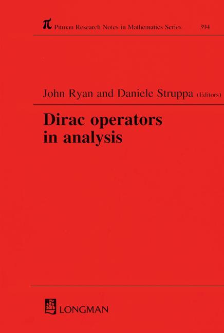 Dirac Operators in Analysis book cover
