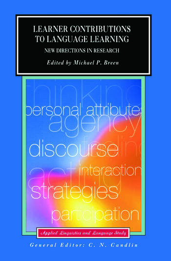 Learner Contributions to Language Learning New Directions in Research book cover