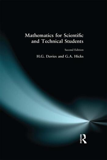 Mathematics for Scientific and Technical Students book cover
