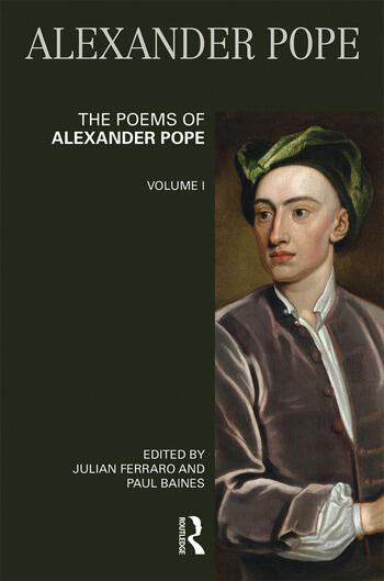The Poems of Alexander Pope: Volume One book cover