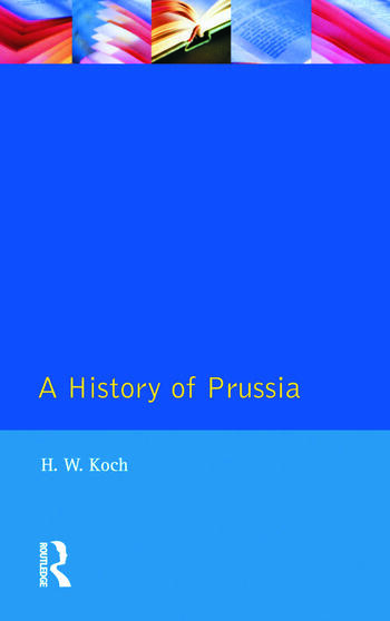 A History of Prussia book cover