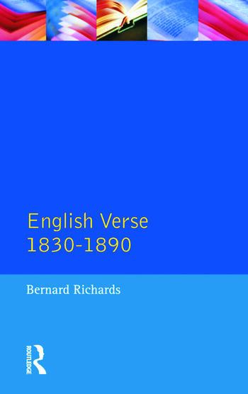 English Verse 1830 - 1890 book cover