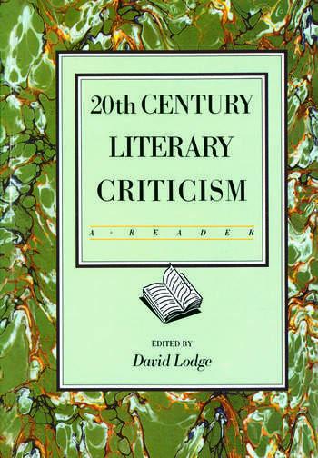Twentieth Century Literary Criticism A Reader book cover
