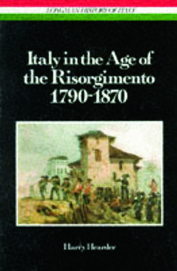 Italy in the Age of the Risorgimento 1790 - 1870 book cover