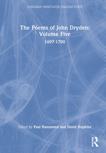 The Poems of John Dryden: Volume Five 1697-1700 book cover