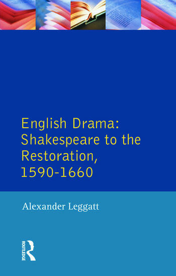 English Drama Shakespeare to the Restoration 1590-1660 book cover