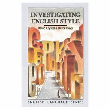 Investigating English Style book cover