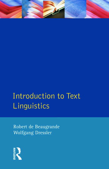 Introduction to Text Linguistics book cover