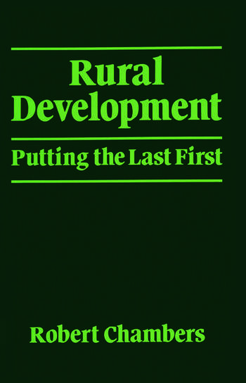 Rural Development Putting the last first book cover