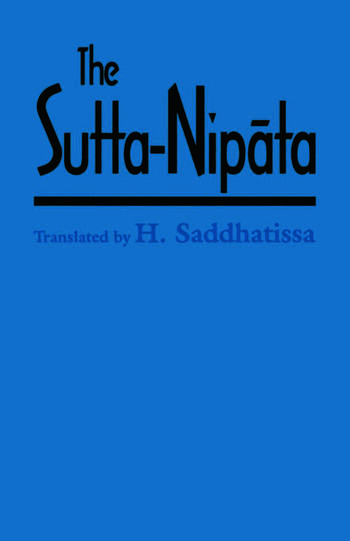 The Sutta-Nipata A New Translation from the Pali Canon book cover