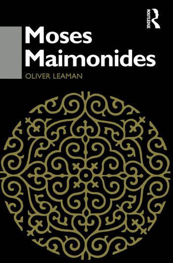 Moses Maimonides book cover
