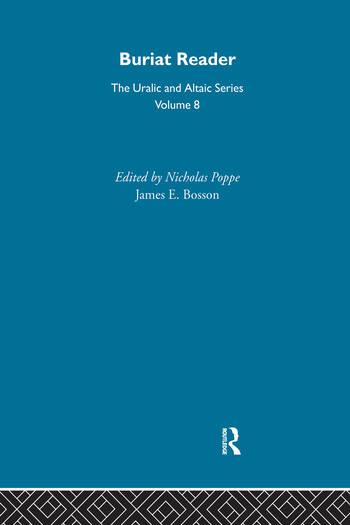 Buriat Reader book cover
