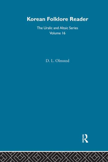 Korean Folklore Reader book cover