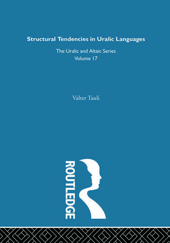 Structural Tendencies in Uralic Languages book cover