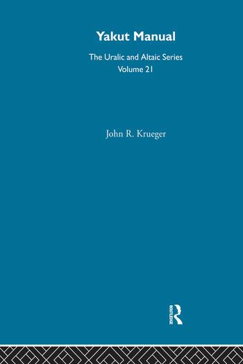 Yakut Manual book cover
