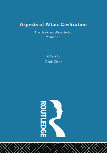 Aspects of Altaic Civilization book cover