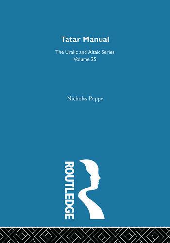 Tatar Manual book cover
