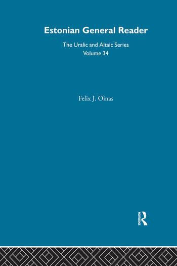 Estonian General Reader book cover