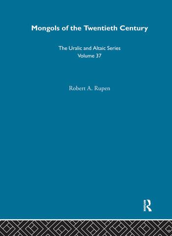 Mongols of the Twentieth Century book cover