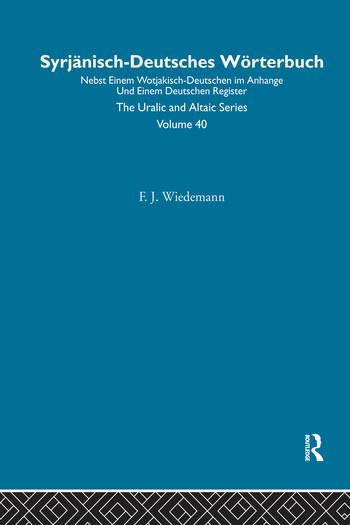 Syrjanisch-Deutches Worterbuch book cover