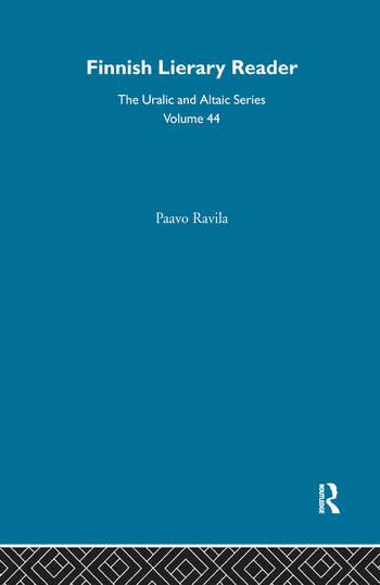 Finnish Literary Reader book cover