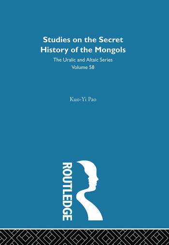 Studies on the Secret History of the Mongols book cover