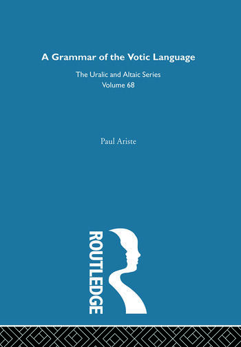A Grammar of the Votic Language book cover