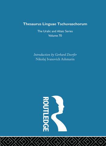 Thesaurus Linguae Tschuvaschorum book cover