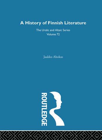 History of Finnish Literature book cover