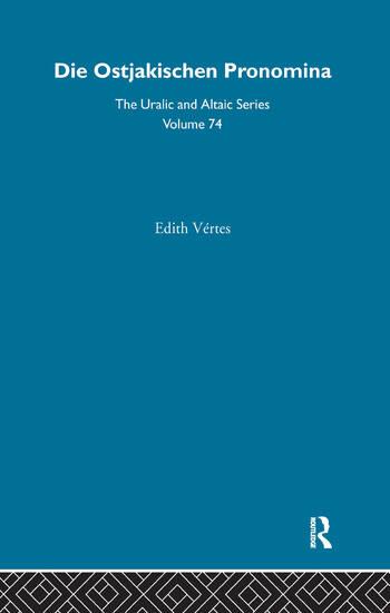 Die Ostjakischen Pronomina book cover
