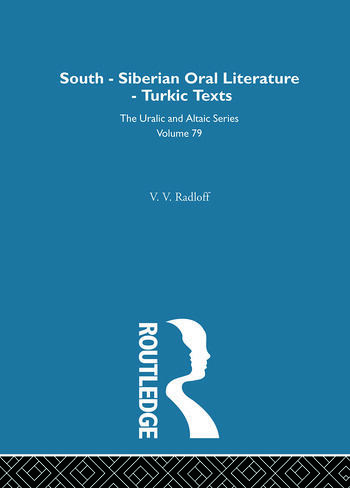 South-Siberian Oral Literature book cover