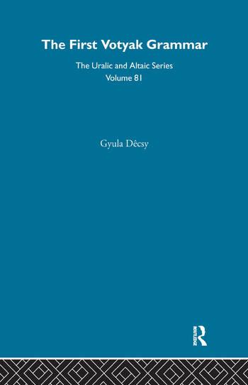 First Votyak Grammar book cover