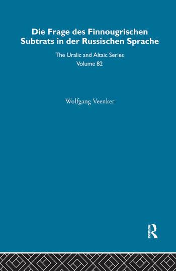 Die Frage Des Finnougrischen Substrats in der Russischen Sprache book cover