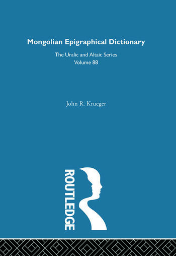 Mongolian Epigraphical Dictionary in Reverse Listing book cover