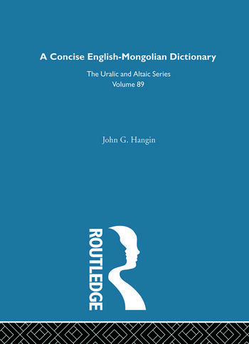A Concise English-Mongolian Dictionary book cover