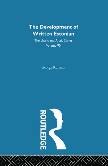 The Development of Written Estonian book cover