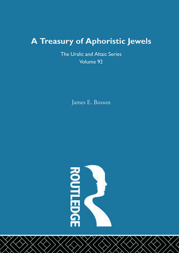 A Treasury of Aphoristic Jewels book cover