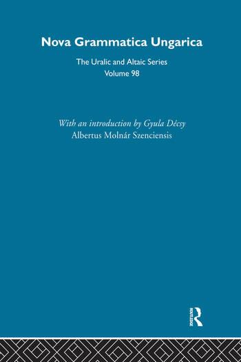 Nova Grammatica Ungarica book cover