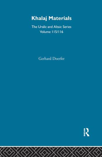 Khalaj Materials book cover
