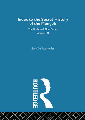 Index to the Secret History of the Mongols book cover